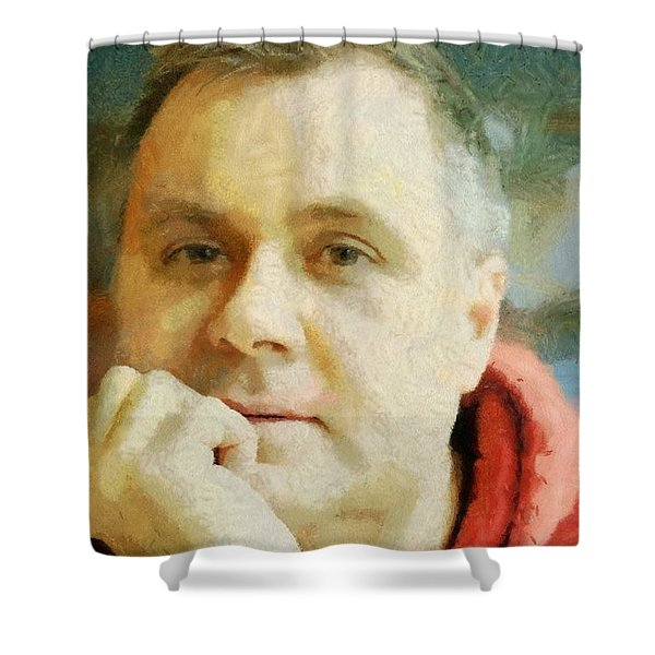 Me Shower Curtain by Jeff Kolker
