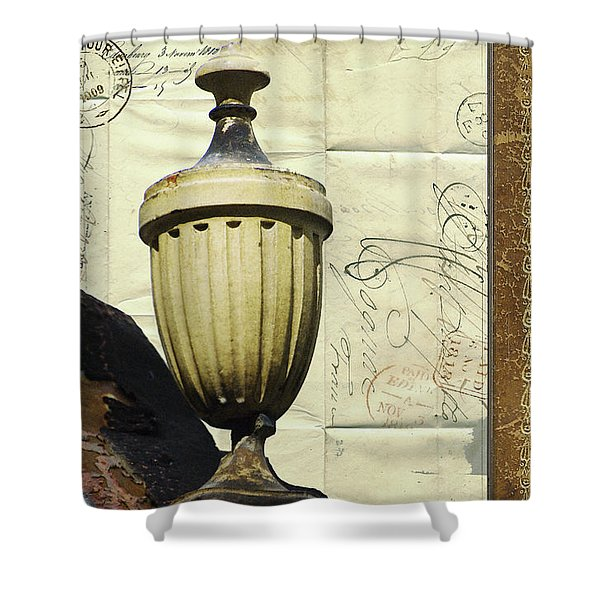 Mediterranean Urn Shower Curtain by AdSpice Studios