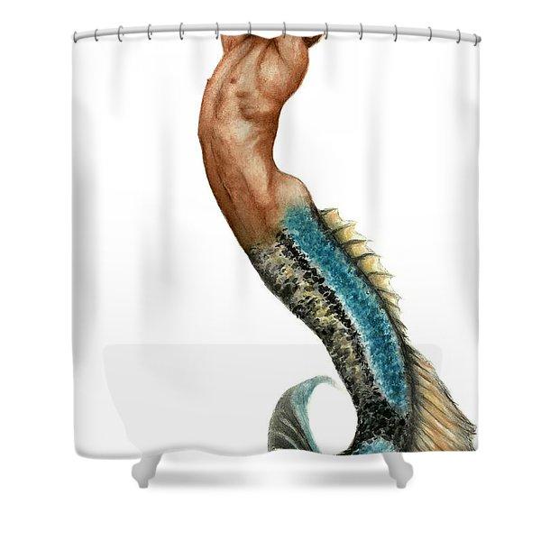 Merman Shower Curtain by Bruce Lennon