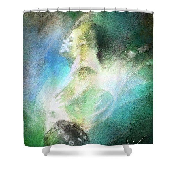 Michael Jackson 15 Shower Curtain by Miki De Goodaboom