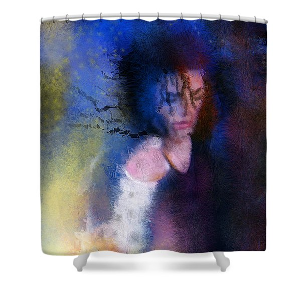 Michael Jackson 16 Shower Curtain by Miki De Goodaboom