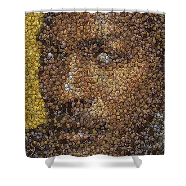 Michael Jordan Money Mosaic Shower Curtain by Paul Van Scott