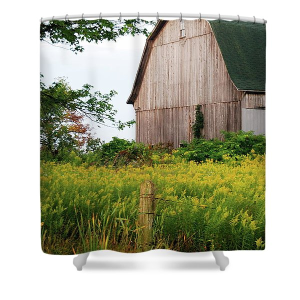 Michigan Barn Shower Curtain by Michael Peychich