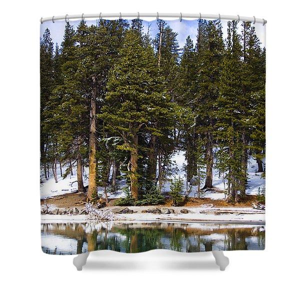 Mid Day Melt Shower Curtain by Chris Brannen