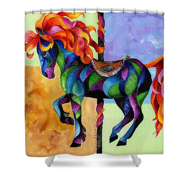 Midnight Fire Shower Curtain by Sherry Shipley