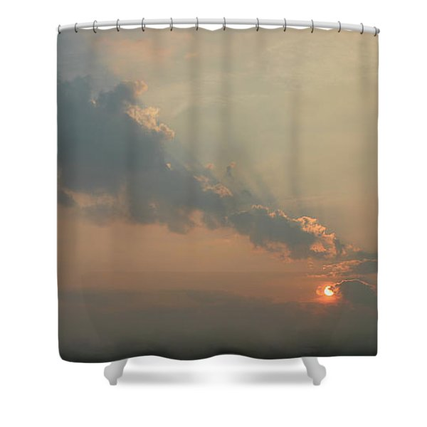 Misty Morning Promise Shower Curtain by Richard De Wolfe