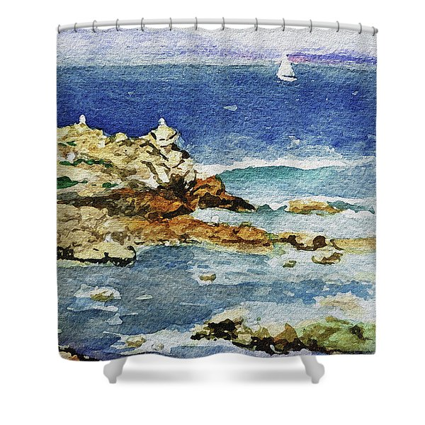 Monterey Shower Curtain by Irina Sztukowski