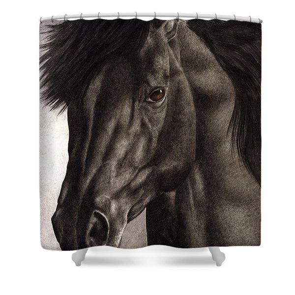 Moondark Shower Curtain by Pat Erickson