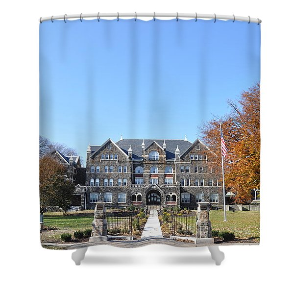 Moravian College Shower Curtain by Bill Cannon