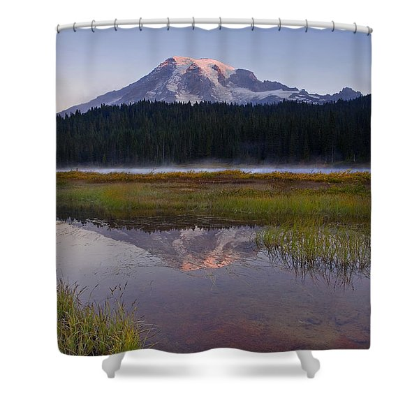 Morning Glow Shower Curtain by Mike  Dawson