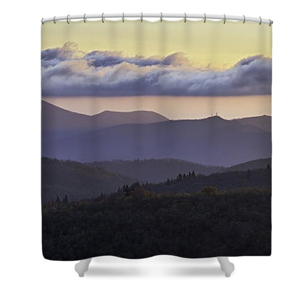 Morning on the Blue Ridge Parkway Shower Curtain by Rob Travis