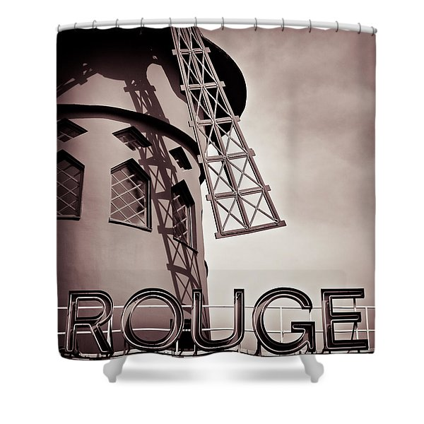 Moulin Rouge Shower Curtain by Dave Bowman