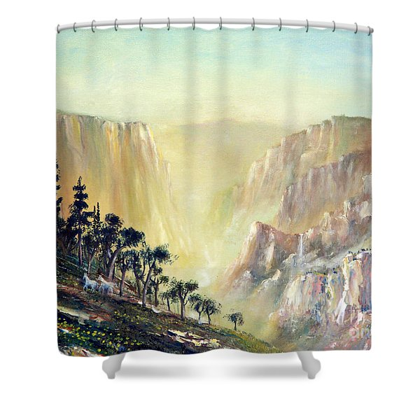 Mountain of The Horses 1989 Shower Curtain by Wingsdomain Art and Photography