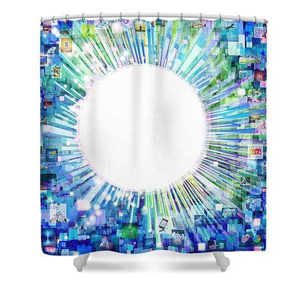 multimedia screen and graphic design Shower Curtain by Setsiri Silapasuwanchai
