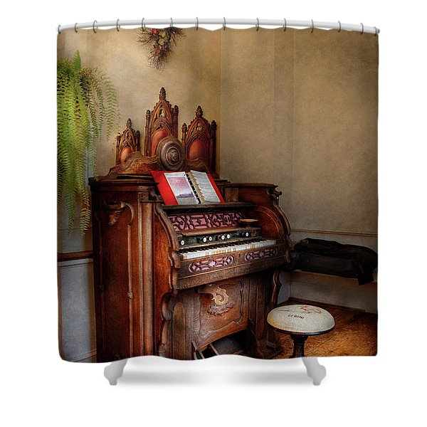 Music - Organ - Hear the Joy  Shower Curtain by Mike Savad