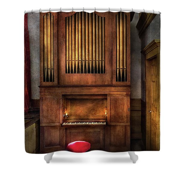 Music - Organist - What a big organ you have  Shower Curtain by Mike Savad