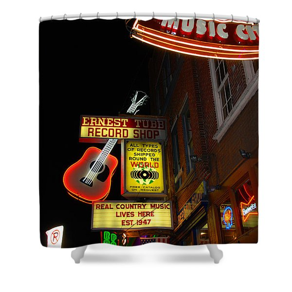 Music City Nashville Shower Curtain by Susanne Van Hulst