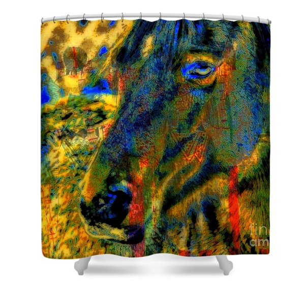 Mustang, A Tribute to Hidalgo Shower Curtain by WBK