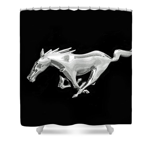 Mustang Shower Curtain by Rona Black