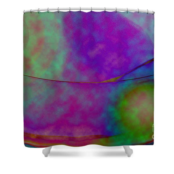 Muted Cool Tone Abstract Shower Curtain by Andee Design