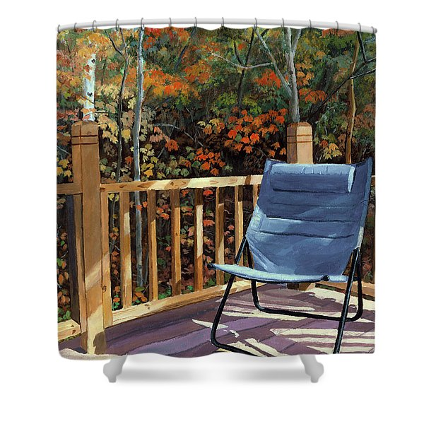 My Favorite Spot Shower Curtain by Lynne Reichhart