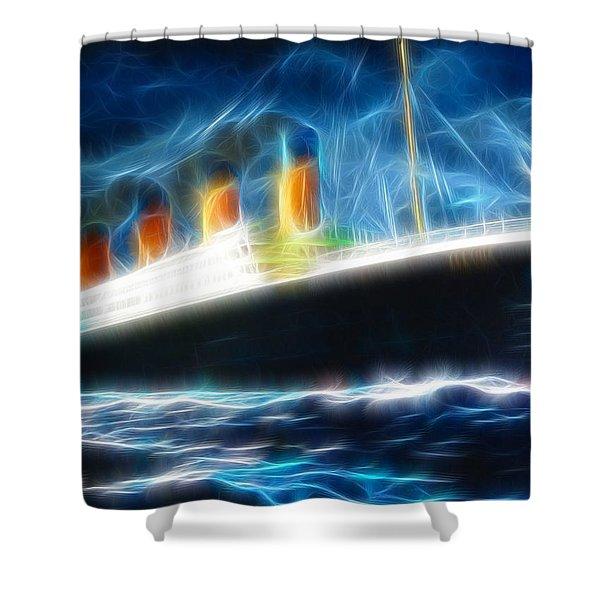 Mystical Titanic Shower Curtain by Paul Van Scott