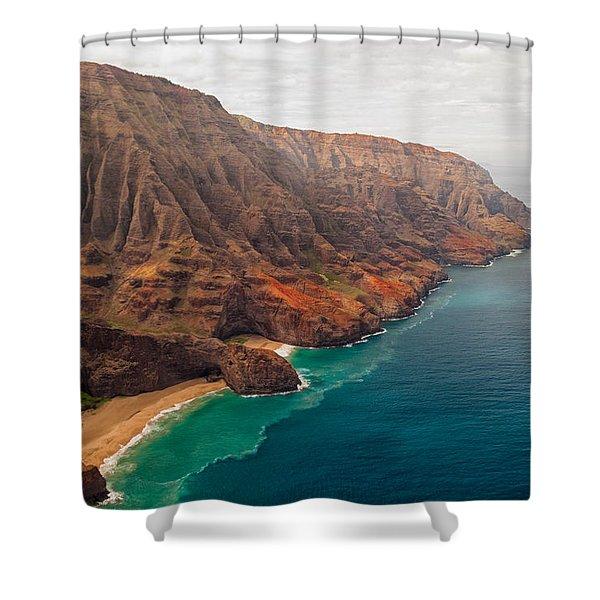 Na Pali Coast 3 Shower Curtain by Brian Harig