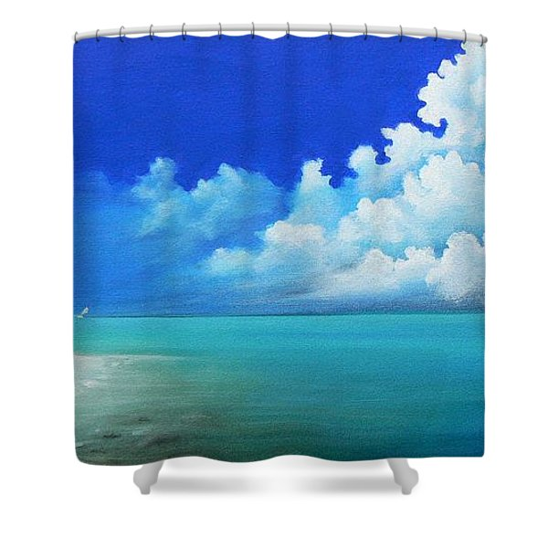 Nap On The Beach Shower Curtain by Susi Galloway