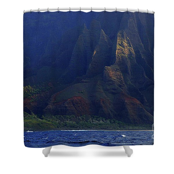 Napali Coast 2 Shower Curtain by Bob Christopher