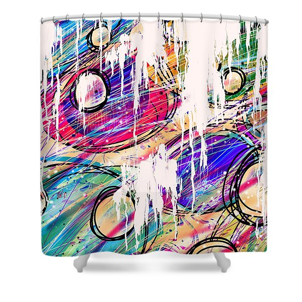 Narcotics of the Mind Shower Curtain by Rachel Christine Nowicki