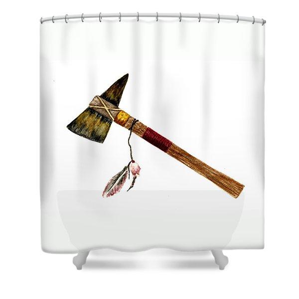Native American Tomahawk Shower Curtain by Michael Vigliotti
