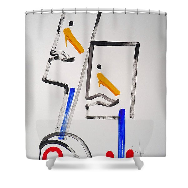 Native Americans Two Shower Curtain by Charles Stuart
