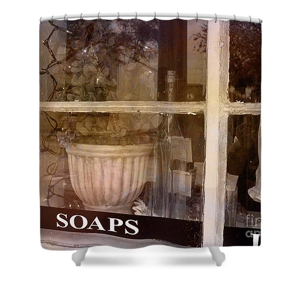 Need Soaps Shower Curtain by Susanne Van Hulst