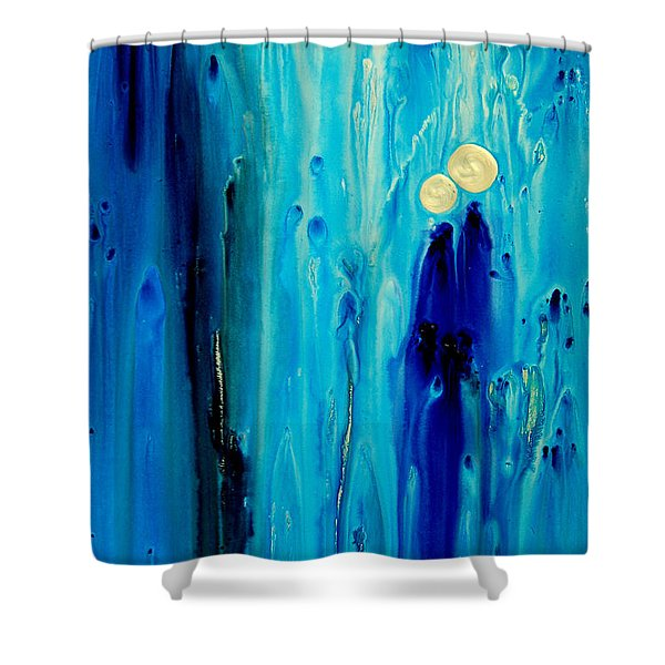 Never Alone Shower Curtain by Sharon Cummings