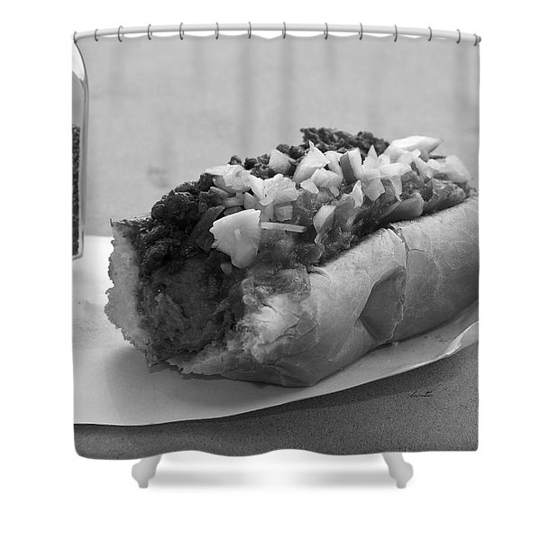 New York Corner Deli Dog Shower Curtain by Betsy C  Knapp