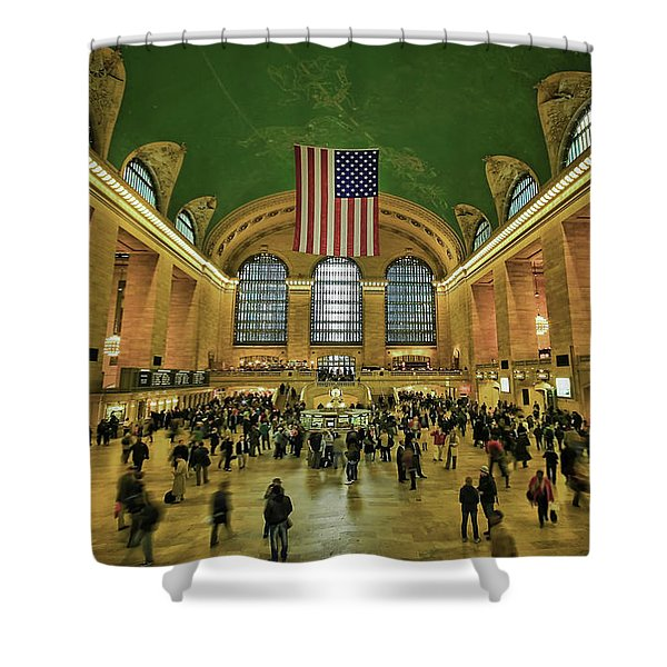 New York Minute Shower Curtain by Evelina Kremsdorf