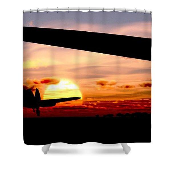 Night Hawks Shower Curtain by Richard Rizzo