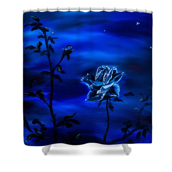 Shower Curtains - Night Stars Shower Curtain by Gina De Gorna