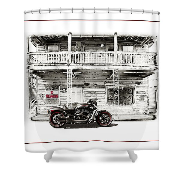 No Trespassing Shower Curtain by Mal Bray