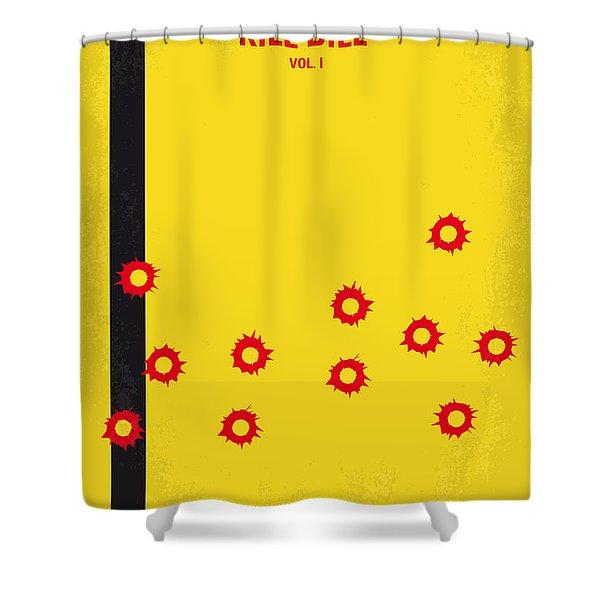 No048 My Kill Bill -part 1 minimal movie poster Shower Curtain by Chungkong Art