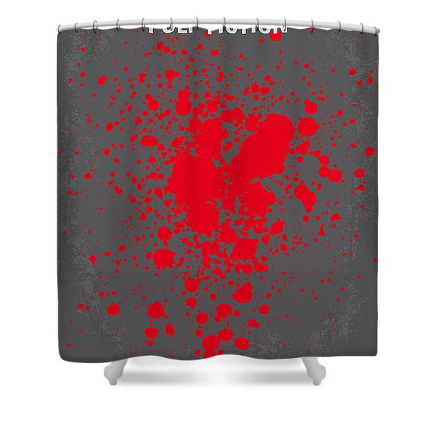 No067 My Pulp Fiction minimal movie poster Shower Curtain by Chungkong Art