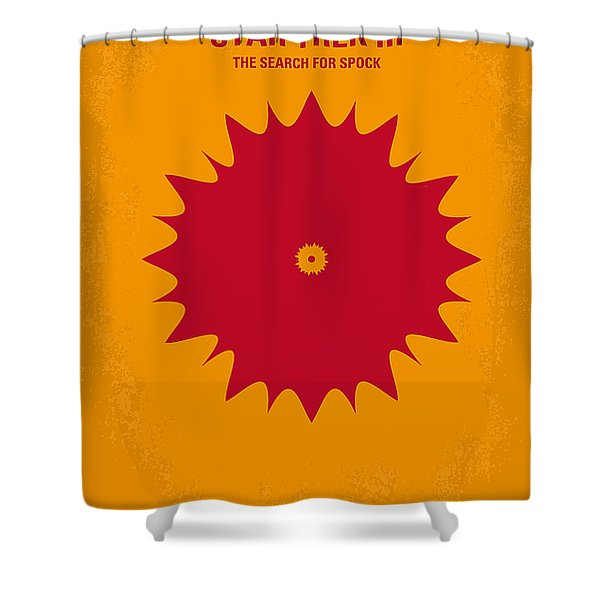 No083 My Star Trek 3 minimal movie poster Shower Curtain by Chungkong Art