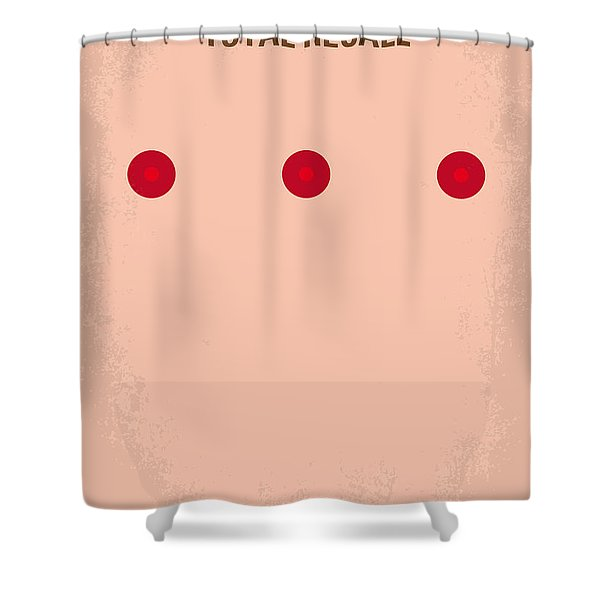 No097 My Total Recall Minimal Movie Poster Shower Curtain by Chungkong Art