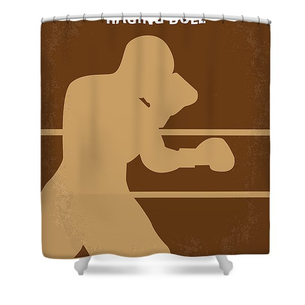 No174 My Raging Bull minimal movie poster Shower Curtain by Chungkong Art