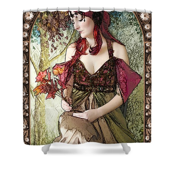 Nouveau Shower Curtain by John Edwards