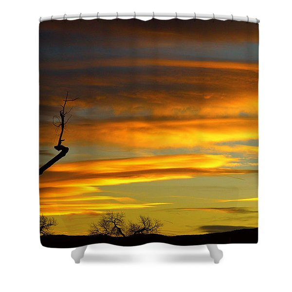 November Sunset Shower Curtain by James BO  Insogna