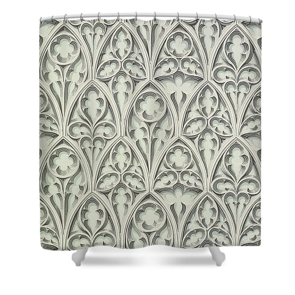 Nowton Court Shower Curtain by Augustus Welby Pugin