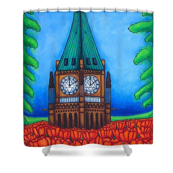 O Canada Shower Curtain by Lisa  Lorenz