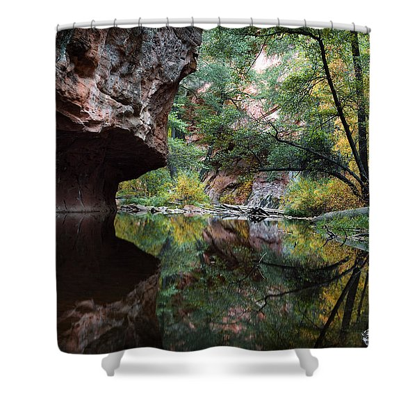 Oak Creek Canyon Reflections Shower Curtain by Dave Dilli