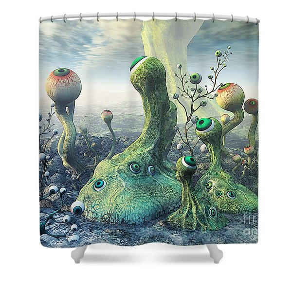 Observation Shower Curtain by Jutta Maria Pusl